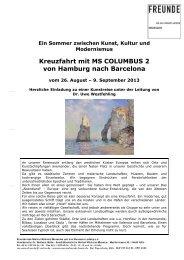 Ein Sommer zwischen Kunst, Kultur und ... - First Reisebüro
