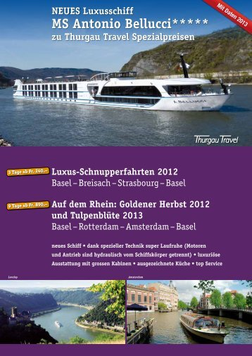 MS Antonio Bellucci***** - Thurgau Travel