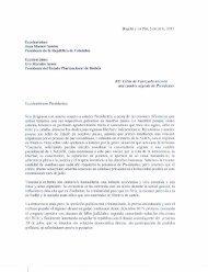 Carta de los expresidente Andrés Pastrana y Tuto Quiroga, a los presidentes Juan Manuel Santos y Evo Morales