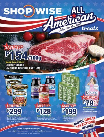 SHOPWISE ALL AMERICAN CATALOG ends July 16, 2017