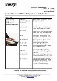 Konzertprogramm Gerschwin Gerschwin - Marabu Gelterkinden
