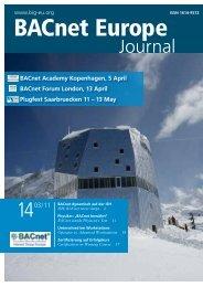 Journal - BACnet Interest Group Europe eV