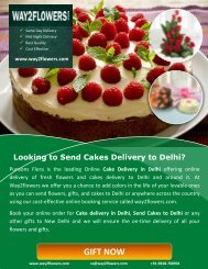 Cake Delivery in Delhi by Way2flowers.com