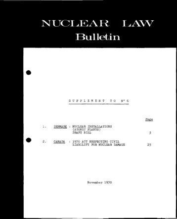 Obligation de l'~loitant - OECD Nuclear Energy Agency