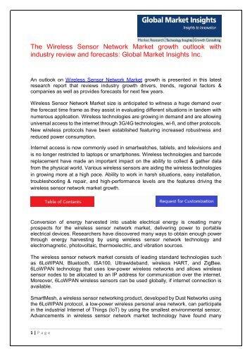 Wireless Sensor Network Market
