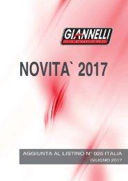 Giannelli Nuovi Prodotti - Giugno 2017