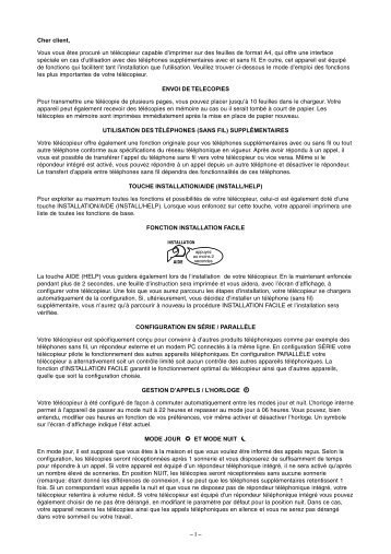 4 Gestion d'appels - Fax-Anleitung.de