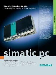 SIMATIC Microbox PC 420 - ultrakompakt, robust und wartungsfrei