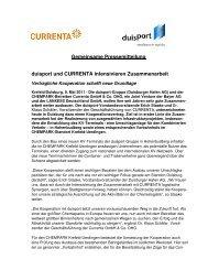 Gemeinsame Pressemitteilung duisport und CURRENTA ...