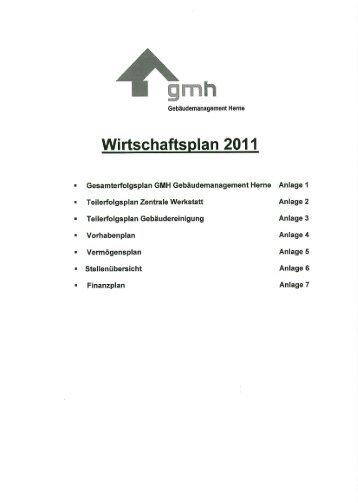 Wirtschaftsplan 2011 - Stadt Herne