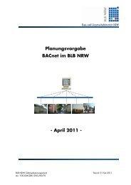 Planungsvorgabe BACnet im BLB NRW - Bau