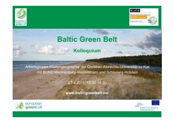 Stefanie Maack - baltic green belt - Christian-Albrechts-Universität ...