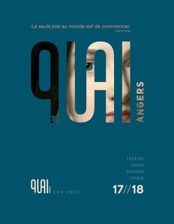Le Quai - brochure de saison 17/18