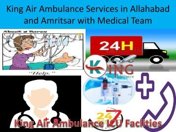 King Air Ambulance Services in Allahabad and Amritsar with Medical Team