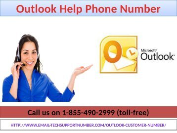Outlook Help Phone Number 1-855-490-2999 help of Complete email management services