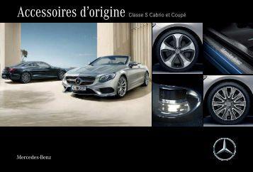 Accessoires d´origine Classe S Cabrio et Coupé