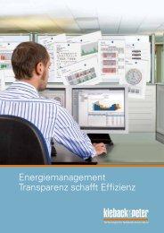 Energiemanagement Transparenz schafft Effizienz - Kieback & Peter ...