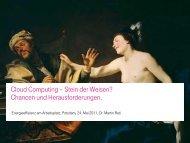 Cloud Computing – Stein der Weisen - IHK Potsdam