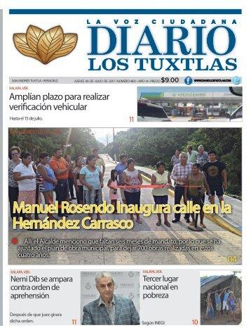edición de diario los tuxtlas del día 06 de julio de 2017
