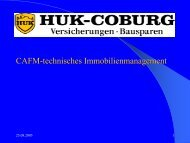 Facility Management System der HUK-Coburg - speedikon FM AG