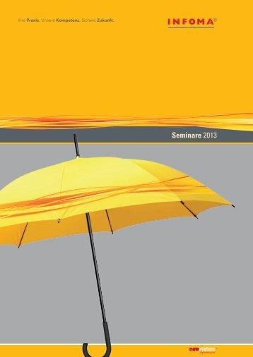 Seminare 2013 - Infoma Software Consulting GmbH