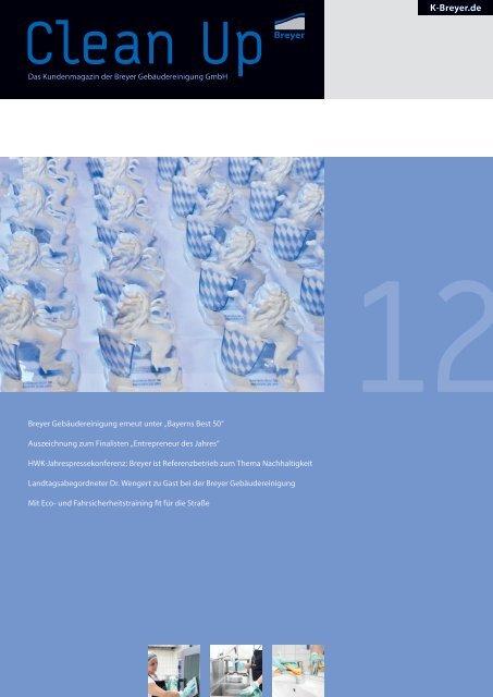 CleanUp Ausgabe 2012 - Breyer Gebäudereinigung GmbH
