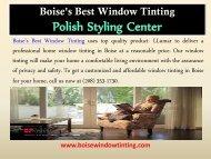 Home Window Tinting Boise| Boise Window Tinting