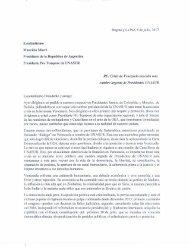 Carta de los expresidentes Andrés Pastrana y Jorge Tuto Quiroga al presidente de Argentina, Mauricio Macri