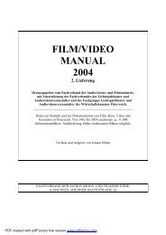 FILM/VIDEO MANUAL 2004 2. Lieferung - Film and Music Austria