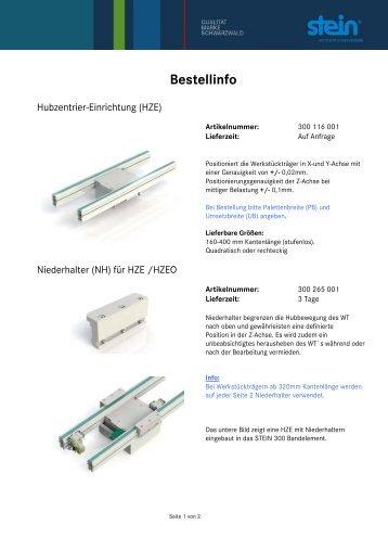 Bestellinfo - STEIN Automation