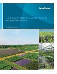 Catálogo de Aspersão Convencional Irrigação de Viveiros e Estufas – 2017