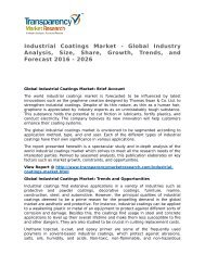 Industrial Coatings Market 2016 Trends, Research, Analysis and Review Forecast 2026