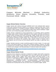 Copper Nitrate Market 2016 Trends, Research, Analysis and Review Forecast 2026