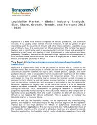Lepidolite Market 2016 Trends, Research, Analysis and Review Forecast 2026