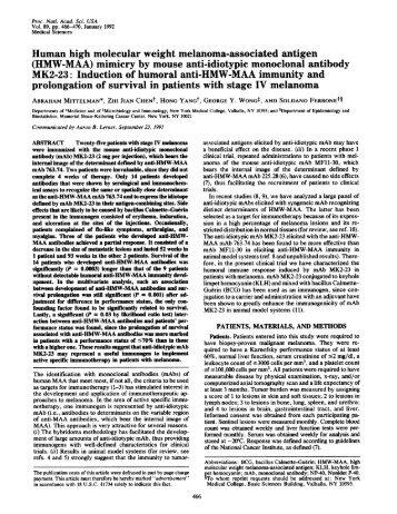 Human high molecular weight melanoma-associated antigen (HMW ...