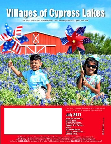 Villages of Cypress Lakes July 2017