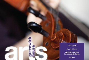 Greenwich House Music School Arts Catalog 2017-2018