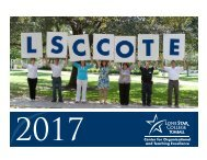Lone Star College-Tomball COTE 2017 Fall Calendar
