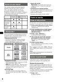 Sony CDX-GT121 - CDX-GT121 Mode d'emploi Espagnol - Page 4
