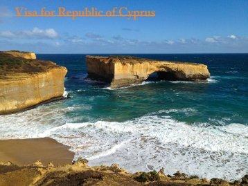 Visa for Republic of Cyprus