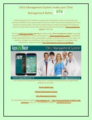 Clinic Management System make your Clinic Management Better
