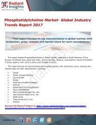 Phosphatidylcholine Market- Global Industry Trends Report 2017