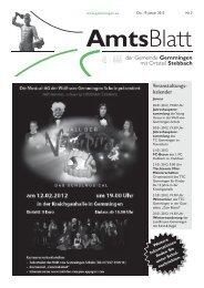 Amtsblatt KW 3 - Gemeinde Gemmingen