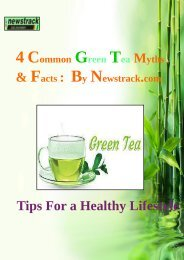 4 Common Green Tea Myths and Facts- By Newstrack