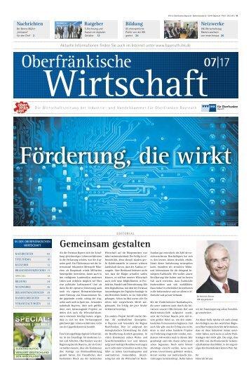 Oberfränkische Wirtschaft Ausgabe 07.2017