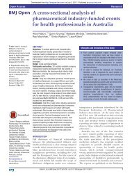 A cross sectional analysis of pharmaceutical industry-funded events for HCPs in Australia_Fabbri_Mintzes