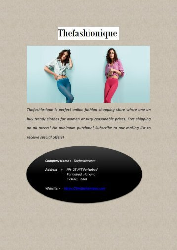 Best Online Fashion Shopping Store for Clothes