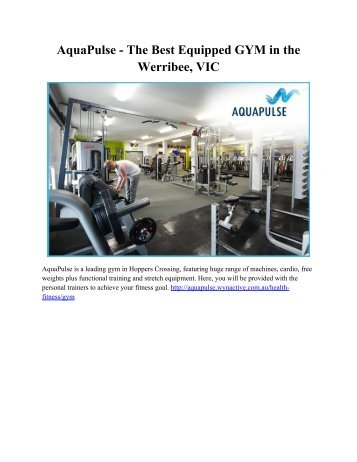 AquaPulse - The Best Equipped GYM in the Werribee, VIC