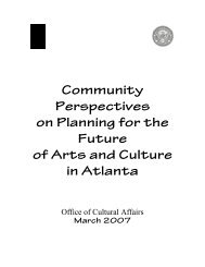 Community Perspectives on Planning for the Future of Arts and ...