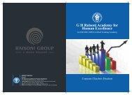 Rahe Brochure - new - GH Raisoni Academy For Human Excellence ...